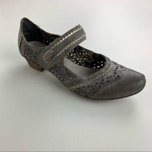 Reiker Ava Grey Antistress Comfort Court Shoes